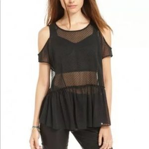 RACHEL Rachel Roy Cold Shoulder Peplum Top